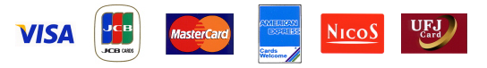 【VISA】【JCB】【MASTER】【AMEX】【NICOS】【UFJ(MILLION)】